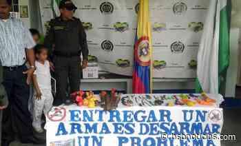 """Con """"plan desarme"""" la Policía Nacional promueve sana convivencia en Cubarral, Meta   HSB Notici - HSB Noticias"""