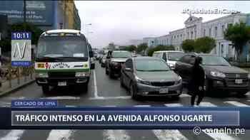 Cercado de Lima: Tráfico intenso se registra en la avenida Alfonso Ugarte - Canal N
