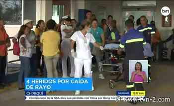 Noticias Obreros a los que le cayó un rayo en Divalá siguen hospitalizados - TVN Panamá