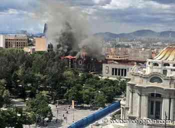 Arde iglesia fundada por Hernán Cortés - Cuauhtémoc Ciudad de México - todochicoloapan.com