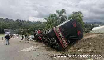 Conductor lesionado por accidente entre Silvania y Fusagasugá, Cundinamarca - Noticias Día a Día