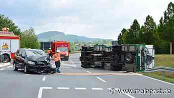 Iphofen: Unfall mit Wohnmobil auf der B 8 - Main-Post