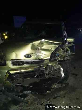 Dos personas lesionadas en accidente de tránsito en Santiago Nonualco - Diario La Página