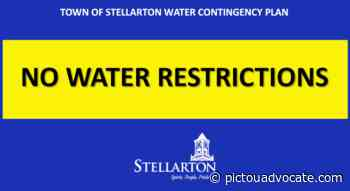 Water restrictions lifted in Stellarton - pictouadvocate.com