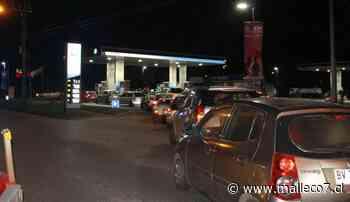 Automovilistas colmaron bencineras de Angol preocupados por eventual desabastecimiento - Malleco7