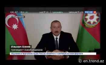 President Ilham Aliyev: More than 90% of soldiers in 416th Taganrog Division were originally from Azerbaijan - Trend News Agency