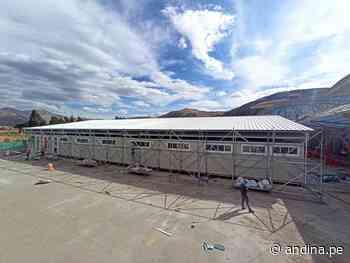Cusco: verifican avances en instalación de hospital temporal covid-19 en Sicuani - Agencia Andina