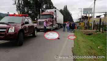 Atropellado perece ciclista entre Ubaté y Simijaca, Cundinamarca - Noticias Día a Día