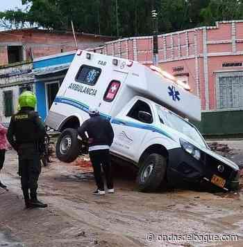 Se accidentó ambulancia en Falan - ondasdeibague.com