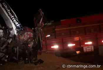 Três ficam feridos em acidente entre caminhão e carreta, em Astorga - CBN Maringá
