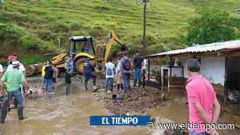 Sigue calamidad pública por lluvias en Pueblorrico, Antioquia - El Tiempo
