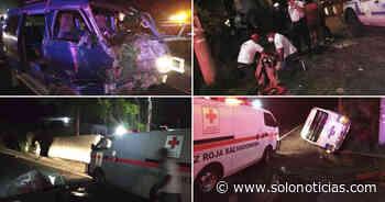 Cinco lesionados tras fuerte choque sobre carretera Panamericana, en Cojutepeque - Solo Noticias