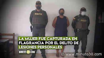 En el barrio No Te Pases cogieron a una 'doña' que agarró a cuchillo a su marido - Minuto30.com