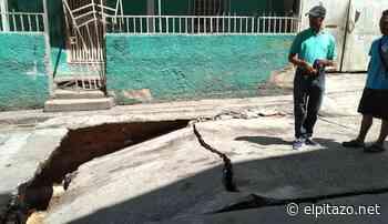 Calles de La Montañita, en José Félix Ribas, colapsaron y podrían generar derrumbe - El Pitazo