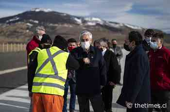Presidente Piñera revisa el avance de nueva ruta Puerto Natales - Parque Torres del Paine - The Times Chile