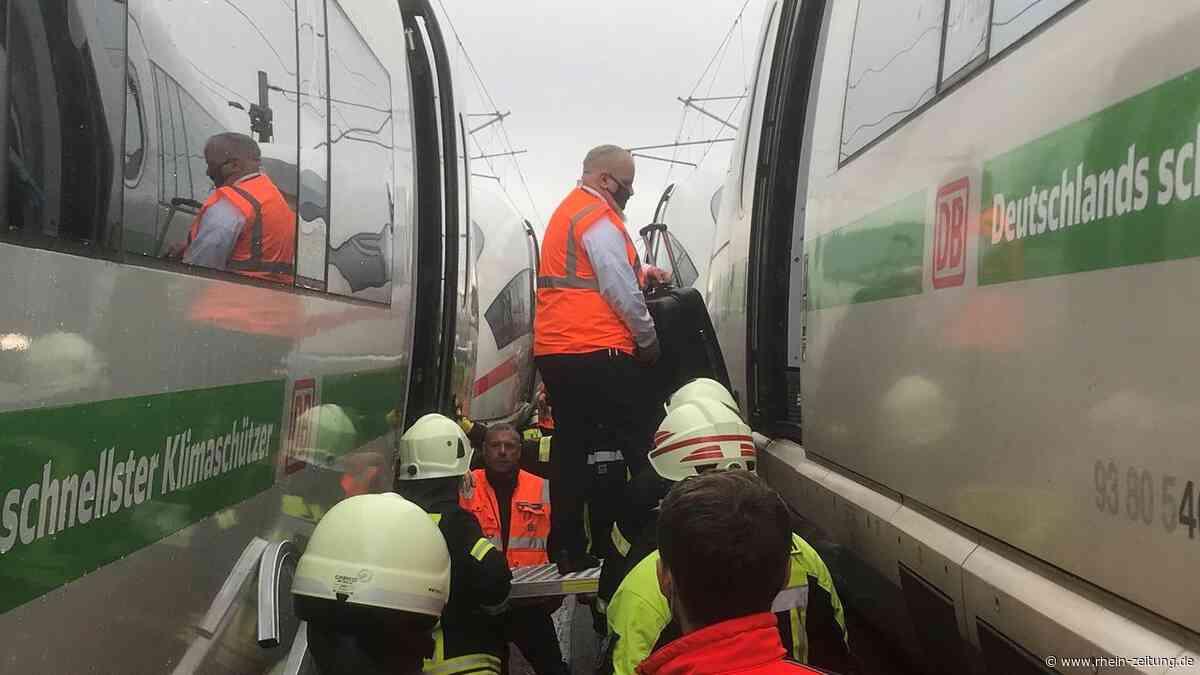 Tragisches Unglück: Spaziergänger stirbt an ICE-Strecke bei Elz - Rhein-Zeitung