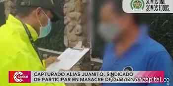 Capturado alias Juanito, sindicado de participar en la masacre de Guaduas - Canal Capital