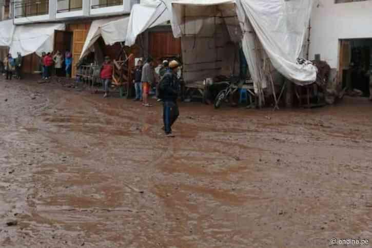 Emergencia en Cusco: desborde de río inunda decenas de viviendas en Pisac [video] - Agencia Andina