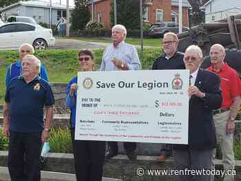 "$83000 raised for Eganville Legion as part of ""Save our Legion"" campaign - renfrewtoday.ca"