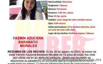 Desaparece jovencita de 13 años en Emiliano Zapata - El Heraldo de Tabasco