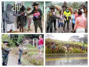 Habitantes de Piendamó recibieron tapabocas por parte de los Carabineros del Cauca [VIDEO]   HSB No - hsbnoticias.com