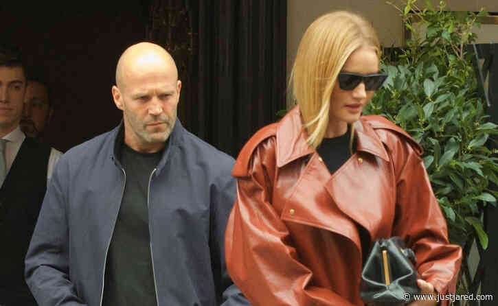 Rosie Huntington-Whiteley & Jason Statham Step Out for Lunch in London