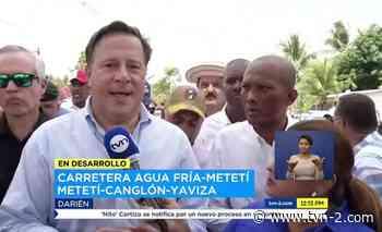 Noticias Gobierno inaugura carretera Agua Fría-Metetí - TVN Panamá