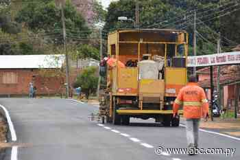 Obras de asfaltado en barrio de Ayolas - Nacionales - ABC Color