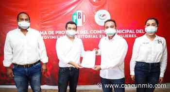Toma protesta nuevo Secretario General del MT del PRI en Isla Mujeres - Cancún Mio
