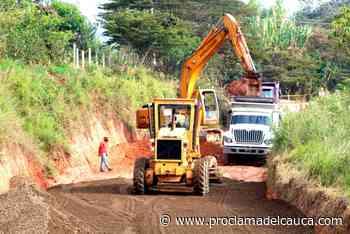 Avanza pavimentación de la vía El Pital - Caldono – Proclama del Cauca - Proclama del Cauca