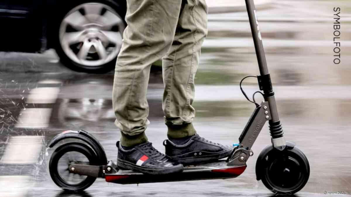 Strullendorf: Mann möchte mit E-Scooter auf die Autobahn - BILD