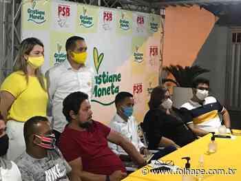Convenção do PSB de Abreu e Lima confirmará o nome de Cristiane Moneta em formato drive-in - Folha de Pernambuco
