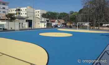 Prefeitura de Jaguariuna conclui pintura da quadra de esportes do bairro Santa Cruz - O Regional