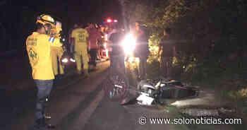 Motociclista pierde la vida tras accidentarse en carretera de Santiago Nonualco - Solo Noticias El Salvador