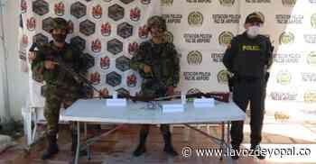 Autoridades hallaron armas de fuego en zona rural de Paz de Ariporo - Noticias de casanare - La Voz De Yopal