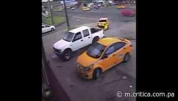 Captan en video impactante colisión en Cativá - Crítica