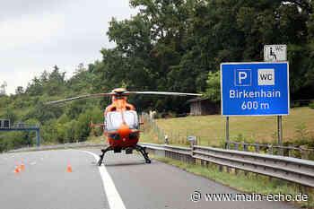 BMW überschlägt sich auf der A3 bei Bessenbach - Fahrer schwer verletzt - Main-Echo