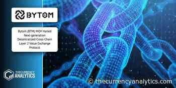 Bytom (BTM) MOV Hailed Next-generation Decentralized Cross-Chain Layer 2 Value Exchange Protocol - The Cryptocurrency Analytics