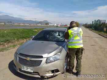 En riesgo vital ciclista que sufrió accidente en la comuna de Rengo. - El Rancagüino