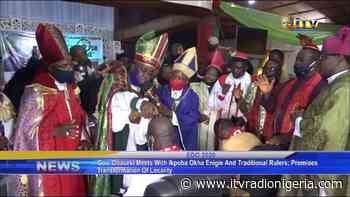 Gov. Obaseki meets with Ikpoba Okha Enigie and traditional rulers, promises transformation of locality - itvradionigeria.com