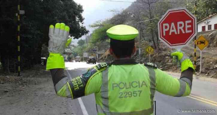 Cierre en vía Amagá-Titiribí, suroeste de Antioquia, por deslizamiento - Semana