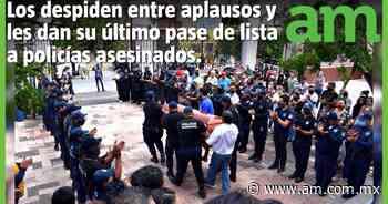 Hacen HOMENAJE y SEPELIO a 2 POLICÍAS ASESINADOS en Yuriria - Periódico AM