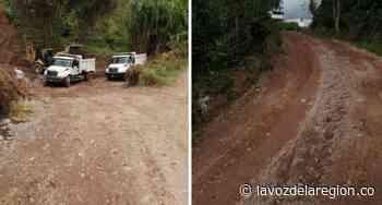 Vía de la vereda Quebraditas Tarqui por fin fue intervenida - Noticias