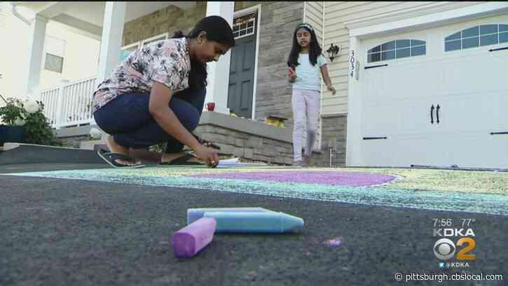 On A Positive Note: Driveway Chalk Art Helping Bring Neighbors Together In South Fayette