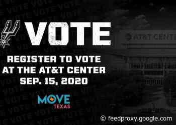 SPURS SPORTS & ENTERTAINMENT AND MOVE TEXAS TO BRING SEPTEMBER 15 VOTER REGISTRATION EVENT TO THE AT&T CENTER
