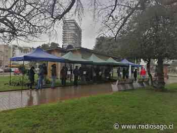 Realizan toma de PCR en Plaza de Armas Osorno - RadioSago 94.5 Osorno y 96.5 Puerto Montt - Radio Sago