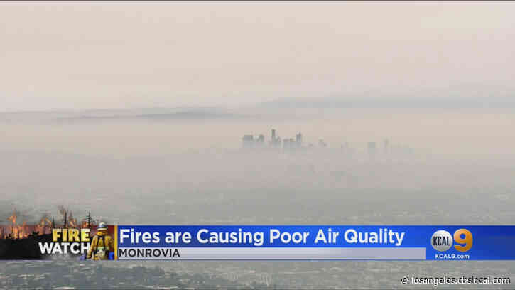 SoCal Experiences Unhealthy Air, Smoky Skies Due To Wildfires Burning Across The State