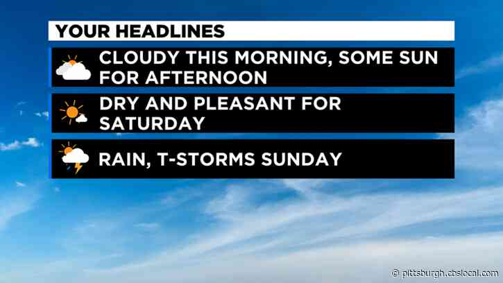Pittsburgh Weather: Cooler Temperatures And Partly Cloudy Skies
