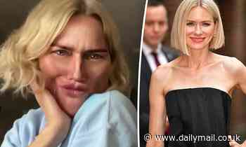 What happened to Naomi Watts' face? Hollywood star, 51, looks barely recognisable in shock new video - Daily Mail