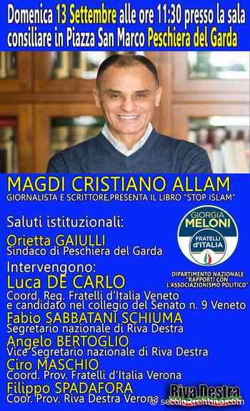 Magdi Allam ospite di Riva Destra a Peschiera del Garda. Interverrà anche Luca De Carlo (FdI) - Secolo Trentino